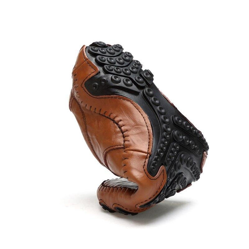 Купить с кэшбэком Fashion British Style Men Casual Shoes Loafers Genuine Leather Men Shoes Outdoor Leather Shoes Men winter shoes zapatos hombre