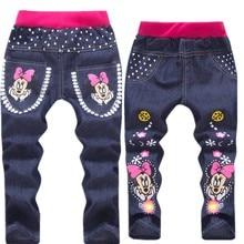 все цены на Baby Girl Clothes Cartoon Pattern Printing Clothes Kids Jeans Children Pants Summer Casual Denim Pants Baby Girls Jeans онлайн