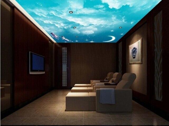 Leuchtende Decke leuchtende sterne hotel schlafzimmer wand tuch tapete tierkreises