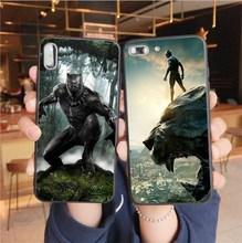 2019 Marvel Black Panther Case black Soft TPU Back Cover Phone For Coque iPhone XS 7 8 MAX 6 6S Plus X XR