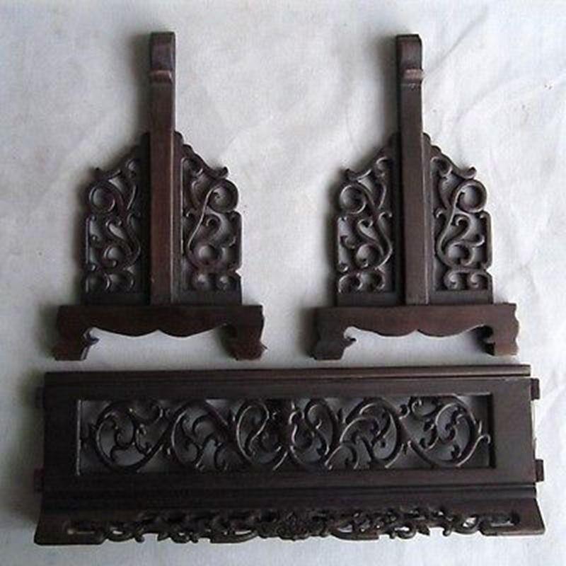 Caractéristiques chinoises Jade chinois Dragon Phoenix bois incrusté livraison gratuite - 5