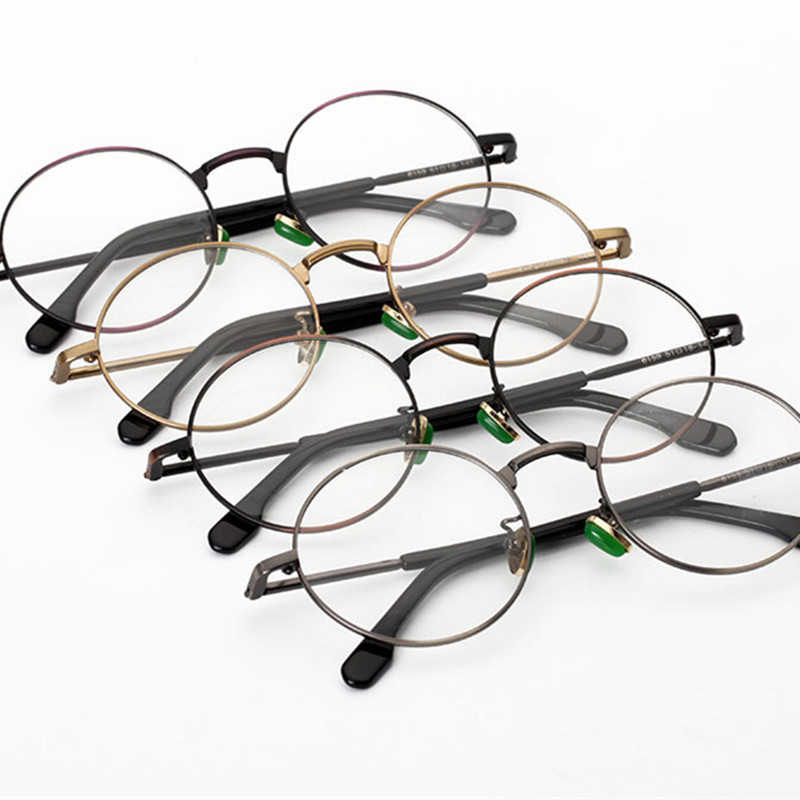 Schwarzes Bronze Retro progressive Qualität Metall Hohe grau Runde Designer gold Gläser Myopie Brillen Optische Multifokale brown weitsichtigkeit AOqx8BX