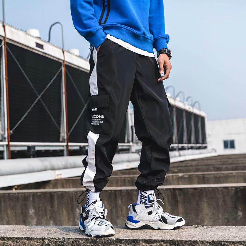 2019 Men Straight Leg Classic Blend Fashion Hip Hop Cargo Pants Loose Style Hip Hop Pants For Men