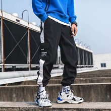2019 Men Straight Leg Classic Blend Fashion Hip Hop Cargo Pants loose style hip hop pants for men