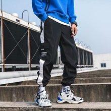 2019 Men Straight Leg Classic Blend Fashion Hip Hop Cargo Pants loose style hip hop pants for men men argyle print straight leg pants