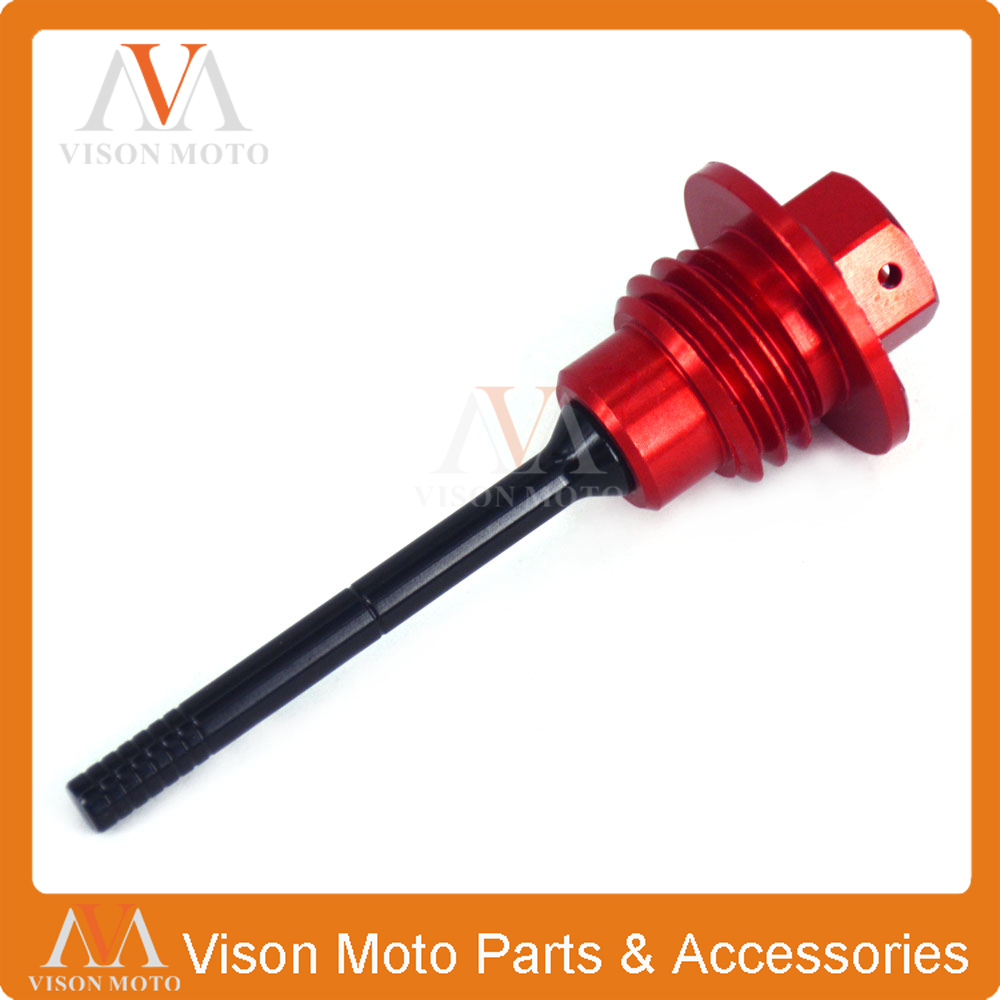 Oil Dipstick Engine Plugs Oil Filter Plugs For Honda <font><b>CRF450R</b></font> CRF450 R 2009 <font><b>2010</b></font> 2011 2012 2013 2014 2015 2016 Motorcycle 09-16 image