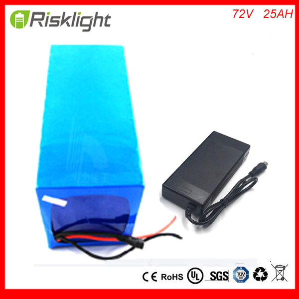 li-ion 72v 3000W battery pack electric bicycle battery 72V 25AH lithium battery pack for 3500W motor with Charger and bms free customs taxes diy 72 volt 2000w lithium battery pack with charger and bms for 72v 15ah li ion battery pack