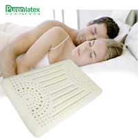 PurenLatex 60x40x11 Thai Natural Latex Smooth Pillow Neck Spine Protect Orthopedic Elastic Cervical Pillow Adult Anti