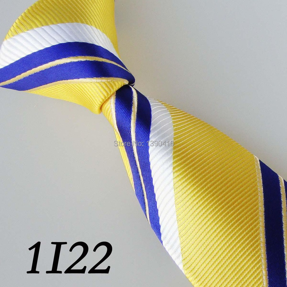 2016 Latest Version Men's Necktie Light Yellow/White/DeepPurple Tilted Striped Necktie Tie For Men Groom Bestman Tie Men Necktie