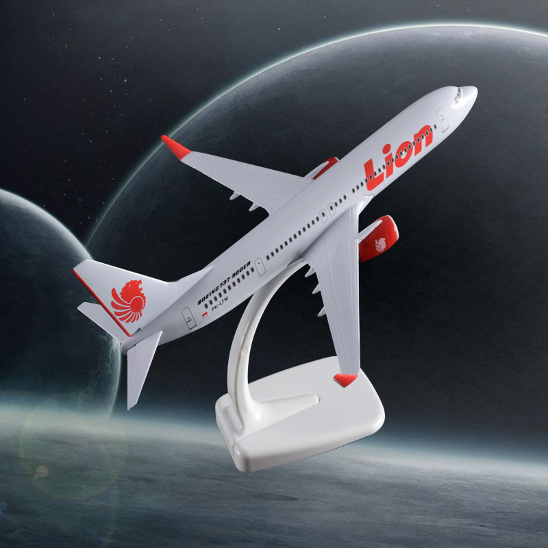 20cm B737 Air Lion Airplane Model Boeing 737 Airways Airbus Metal Model Lion Airlines Creative Gift Travel Souvenir Holiday Gift