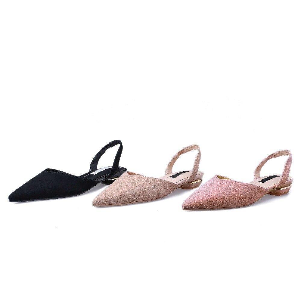 Jóvenes Mujer Y Banda Slip Espalda Oxford L11 2019 Huecos Bombas En rosado Boda Natural La Dulce Sandalias Chicas Beige De negro Fiesta Punta Cuero Zapatos Negro pnPwdvAPqx