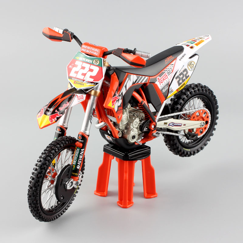 1 12 Scale Mini Red Bull KTM SXF 350 2011 Antonio No#222 Motorcycle Redbull MX Motocross Diecast Model Dirt ENDURO Race Bike Toy