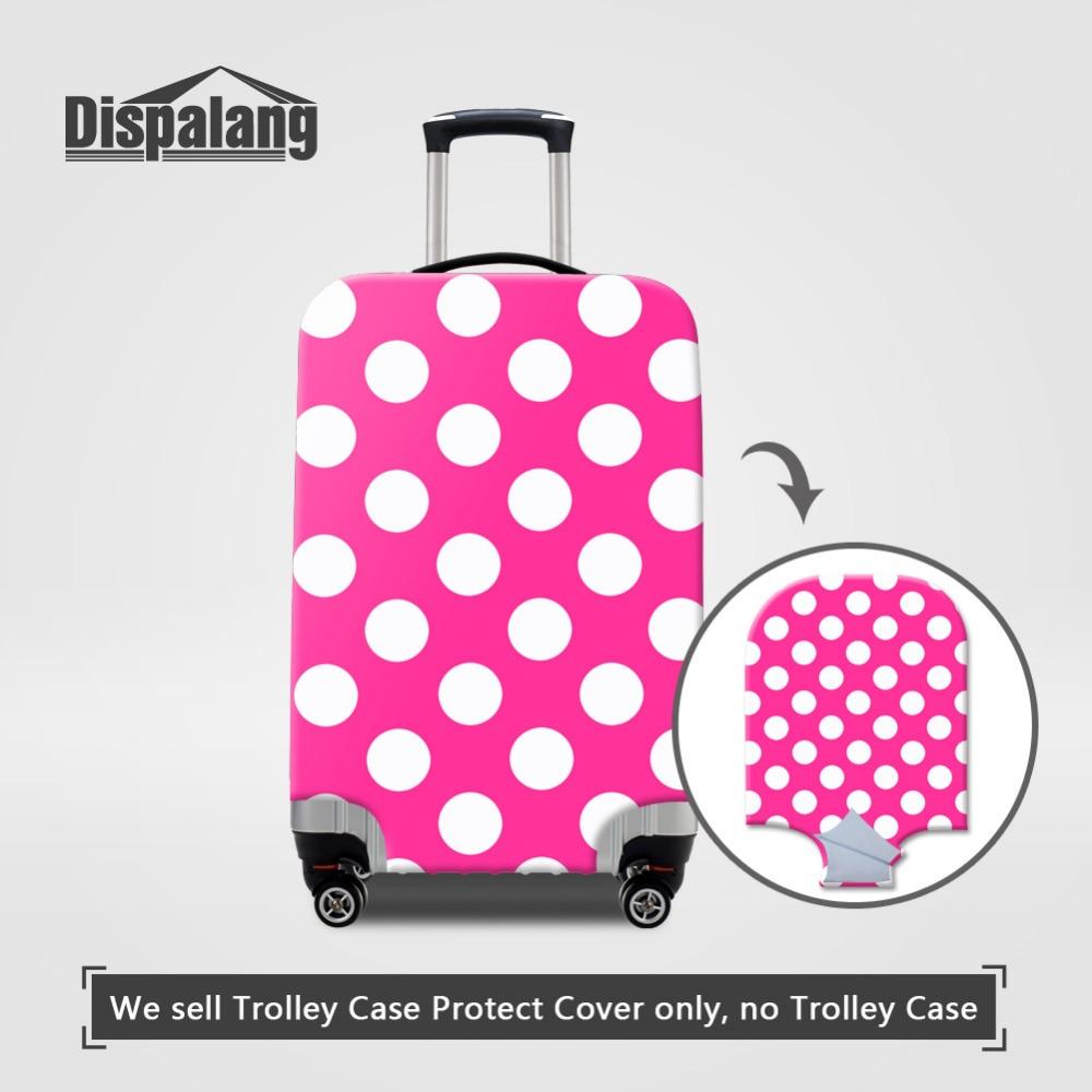 Dispalang круг печати Чемодан защитную крышку для 18-30 дюймов случае обрастания эластичная чемодан пылезащитные крышки Туристические товары