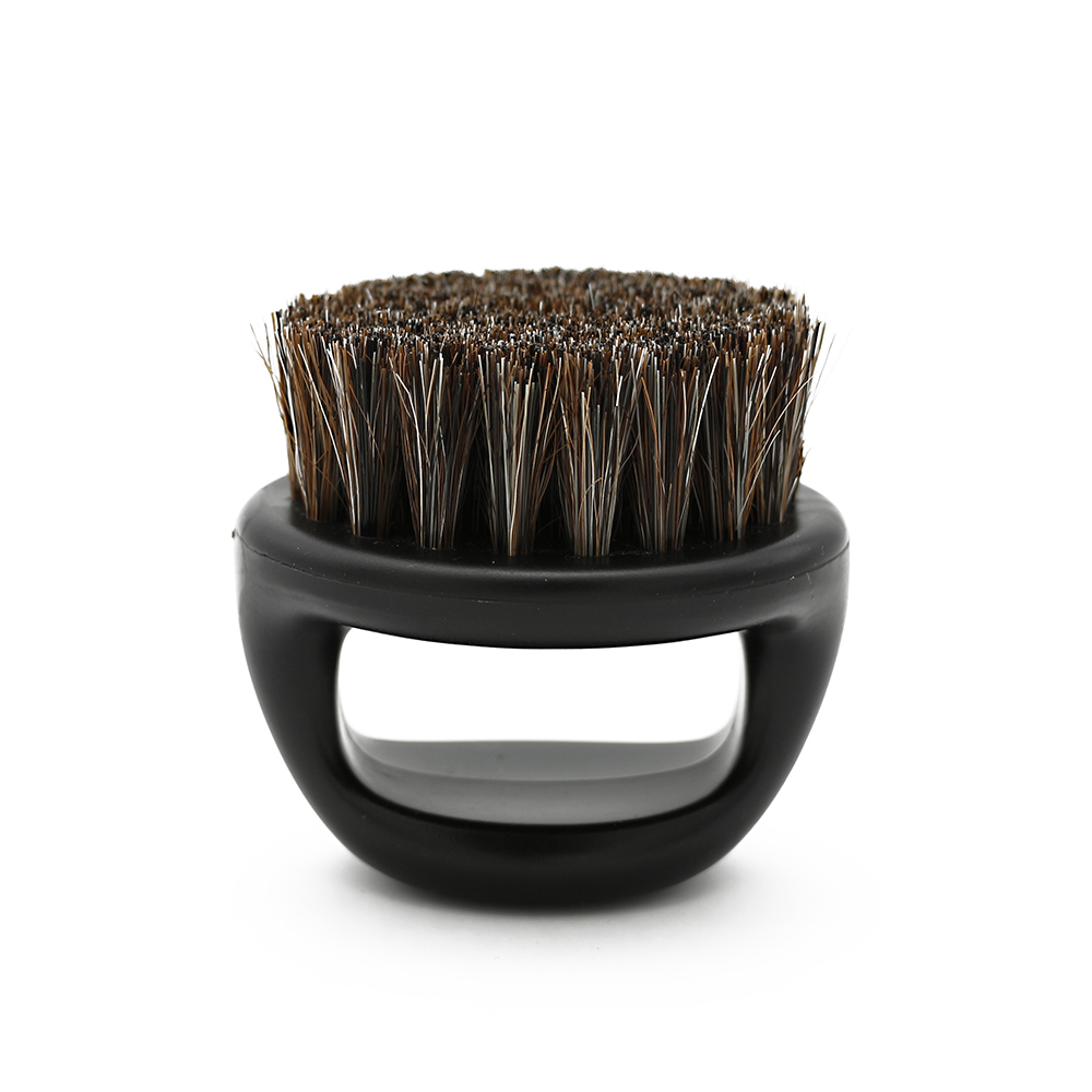 1 Pcs Ring Design Horse Bristle Men Shaving Brush Plastic Portable Barber Beard Brushes Salon Face Cleaning Razor Brush Y-87