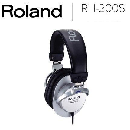 Roland RH-200S - Circumaural Stereo Headphones - Silver roland cb ba330