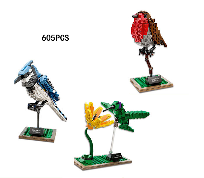 NEW Idear Nature Flower Birds LEPINS Building Block Hummingbird Woodpecker Model Brick Educational Toy Collection for Kids Gifts hummingbird gardens – attracting nature s jewels to your backyard paper