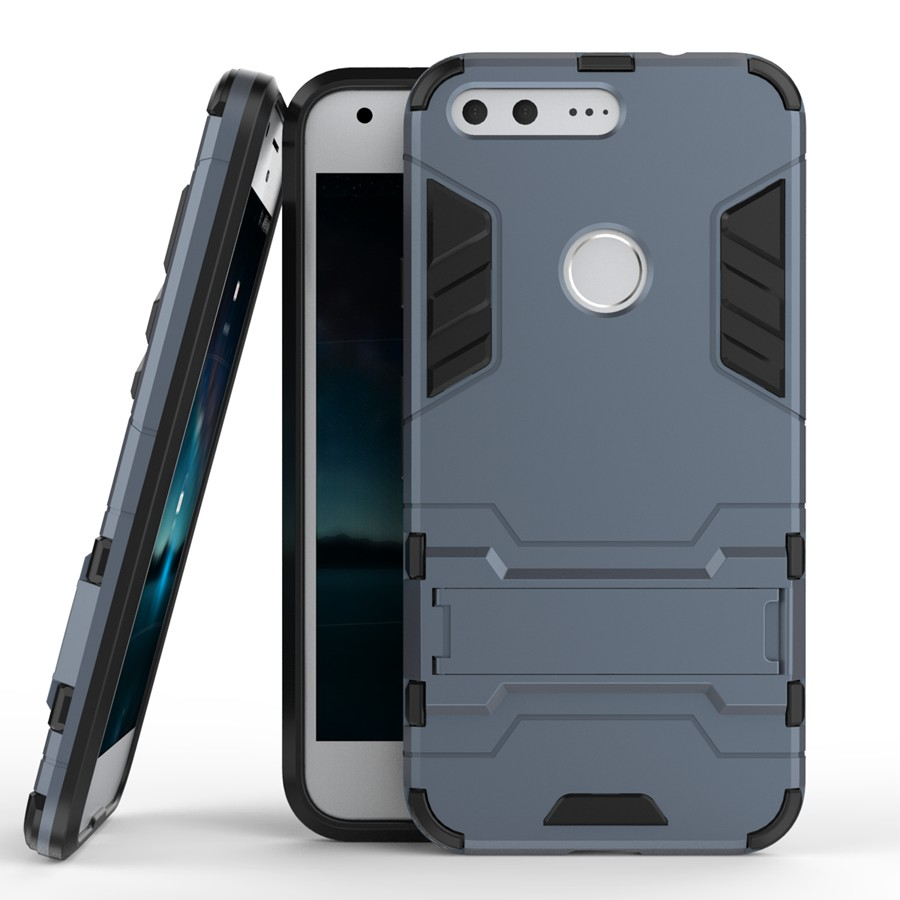 Armor Back Cover Case For HTC Google Pixel PC+TPU 2 In 1 Fundas Kickstand Shockproof Coque For HTC Google Pixel 5.0Inch