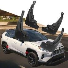 black 4pcs Plastic Mud Flaps Mudguard Fenders Front Rear stylish design For Toyota RAV4 2019-2020 accessories new