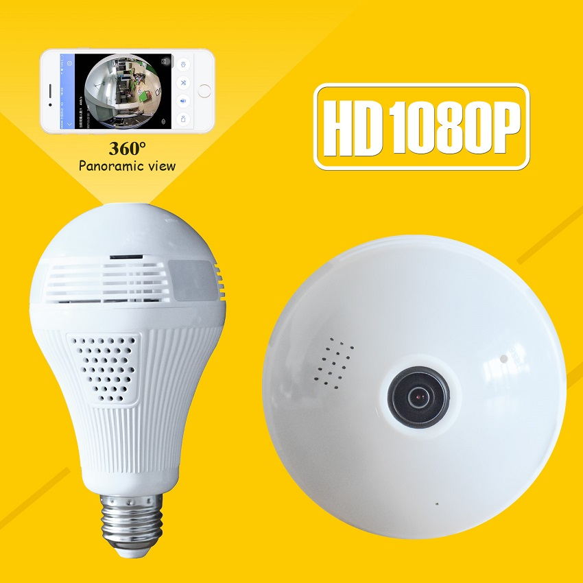 1080P Bulb Light Wireless IP Camera HD 2MP Mini Lamp Wifi P2P Camera Wi-FI FishEye 360 Degree Panoramic CCTV Home Security 1440p hd 3mp bulb light wifi mini panoramic wireless ip camera fisheye 360 degree panoramic mini lamp wifi p2p cam home camera