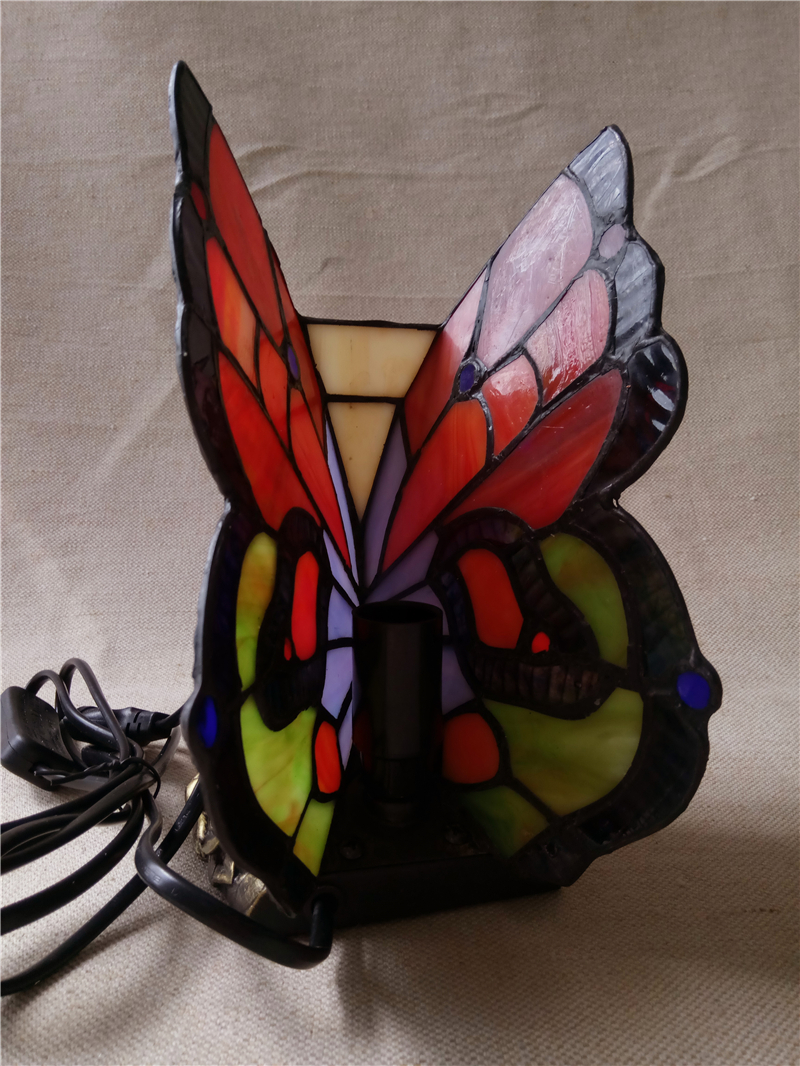 FUMAT Butterfly Table Lamp Stained Glass Butterfly Light For Living Loom  Bedside Lamps Creative Butterfly Lampshade Table Lights In Table Lamps From  Lights ...