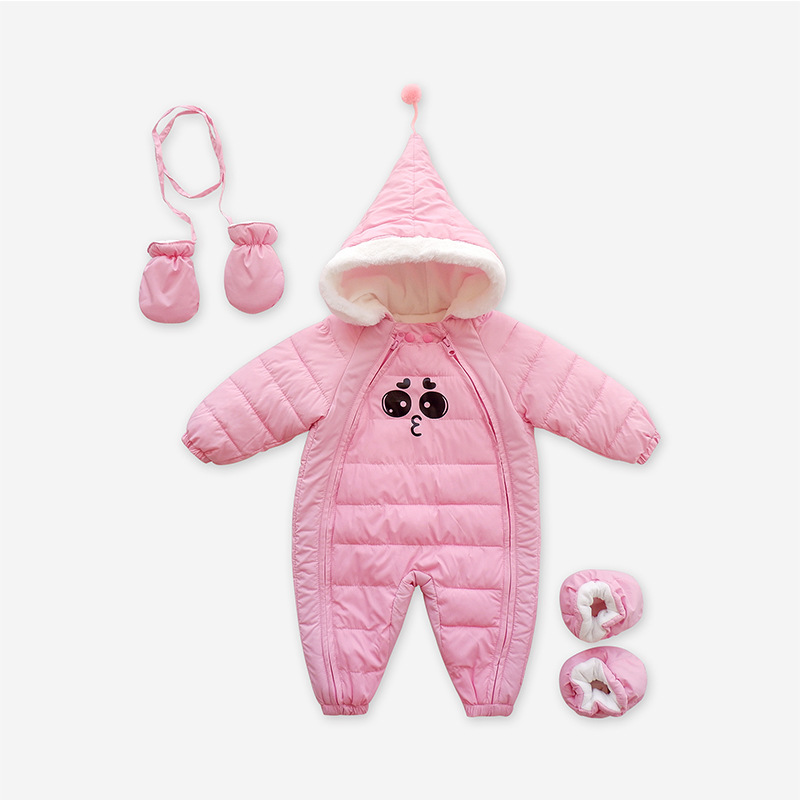 Down Cotton Baby Rompers Winter Thick Boys Costume Girls Warm Infant Snowsuit Kid Jumpsuit Children Outerwear Baby Wear 0-24M 10 24 month baby boys girl winter clothing set 90% thicken down feather snow wear kid overalls for infant snowsuit down