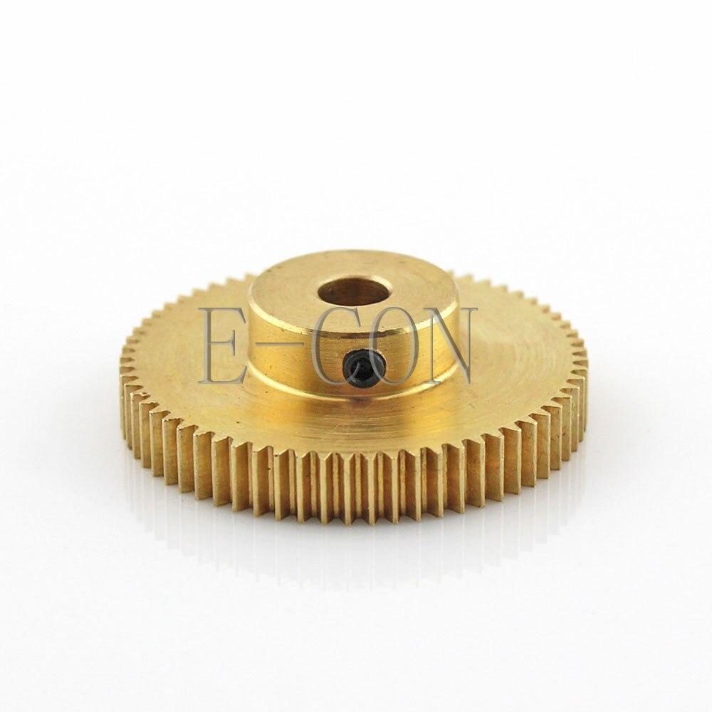 1pcs 0.5M 60T 3-12mm Bore Hole 60 Teeth 0.5 Module 1.57mm Pitch 5mm Width Motor Brass Metal Gear Wheel With Top Screw