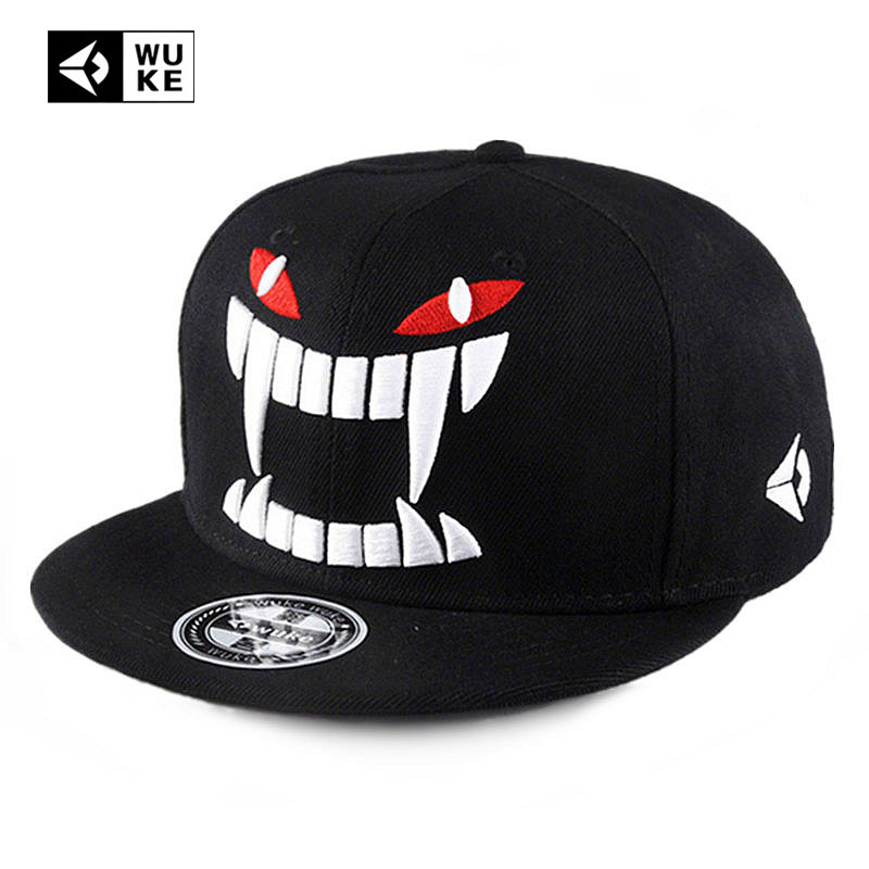 WUKE Brand Punk Snapback Caps Hip Hop Devil Baseball Cap DGK Gat Eyes New  Hip-Hop Gorras For Men Women Homme Novelty Canvas Hats be763a1cb49