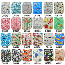10pcs/Lot Baby Nappies Adjustable Reusable Diaper Cover One Size Couche Lavable Washable Baby Cloth Pocket Diapers