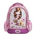Bonito Da Princesa Barbie Crianças Escola Dos Desenhos Animados Mochilas Mochilas 2016 Nova Moda Kds Ombro sacos de Escola Para Meninas Mochila