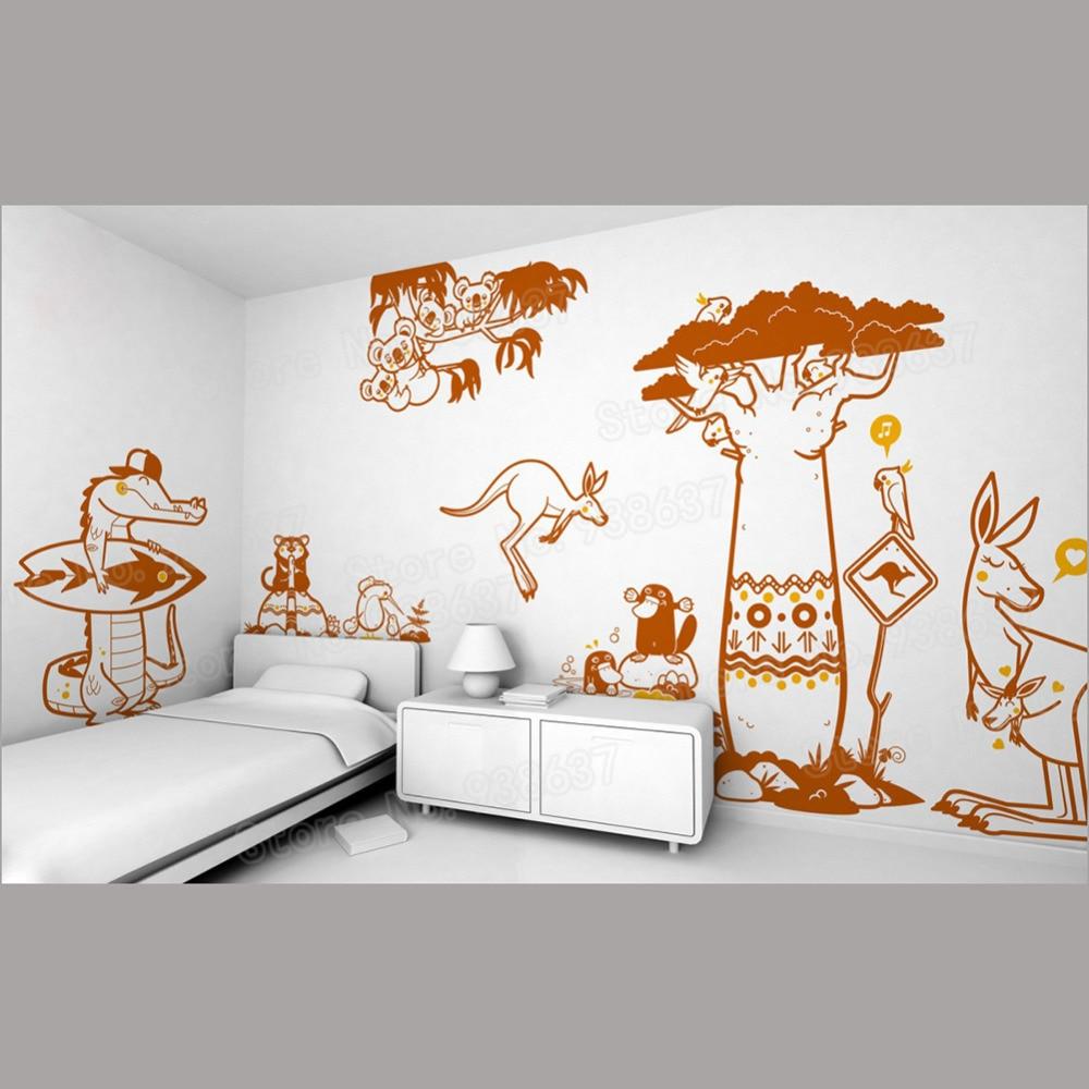 Most Inspiring Wallpaper Koala Cartoon - Kangourou-Cartoon-Crocodile-Child-Wall-Stickers-Home-Decor-Sofa-Background-Waterproof-Animal-Decal-Wallpaper-Koala-Decals  Pic_94322   .jpg