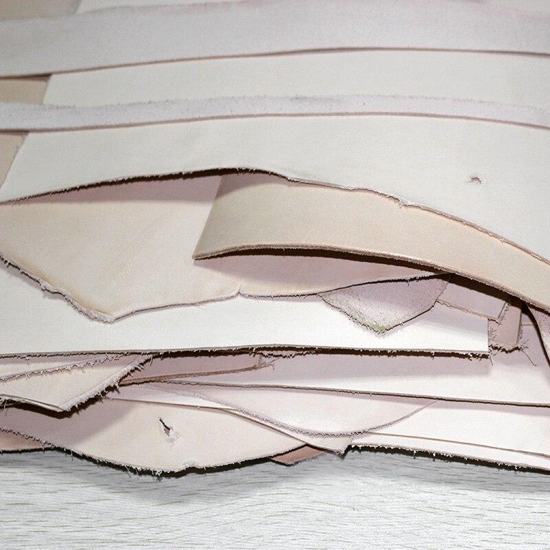 Pas cher Défaut Irrégulière, Réel Cuir Tanné Végétal Matériel débutant Pratique en utilisant, Leathercraft amateurs de Peau de Vache bricolage, 1 KG