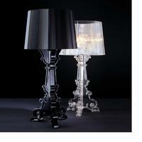 D37 * H73cm E27 светодиодный прозрачный акриловый настольные лампы Спальня Гостиная прикроватная черный акрил настольные лампы Свет Luminarias
