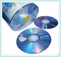 Comercio al por mayor de 25 discos En Un Auténtico + Plátano Diseño Azul Blanco 4.7 GB DVD-R 16x
