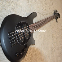 Free Shipping Top Qulity Music Man Bongo Metal black 5 Strings Active Pickups 9V Bass Guitar Musicman Bass Guitar