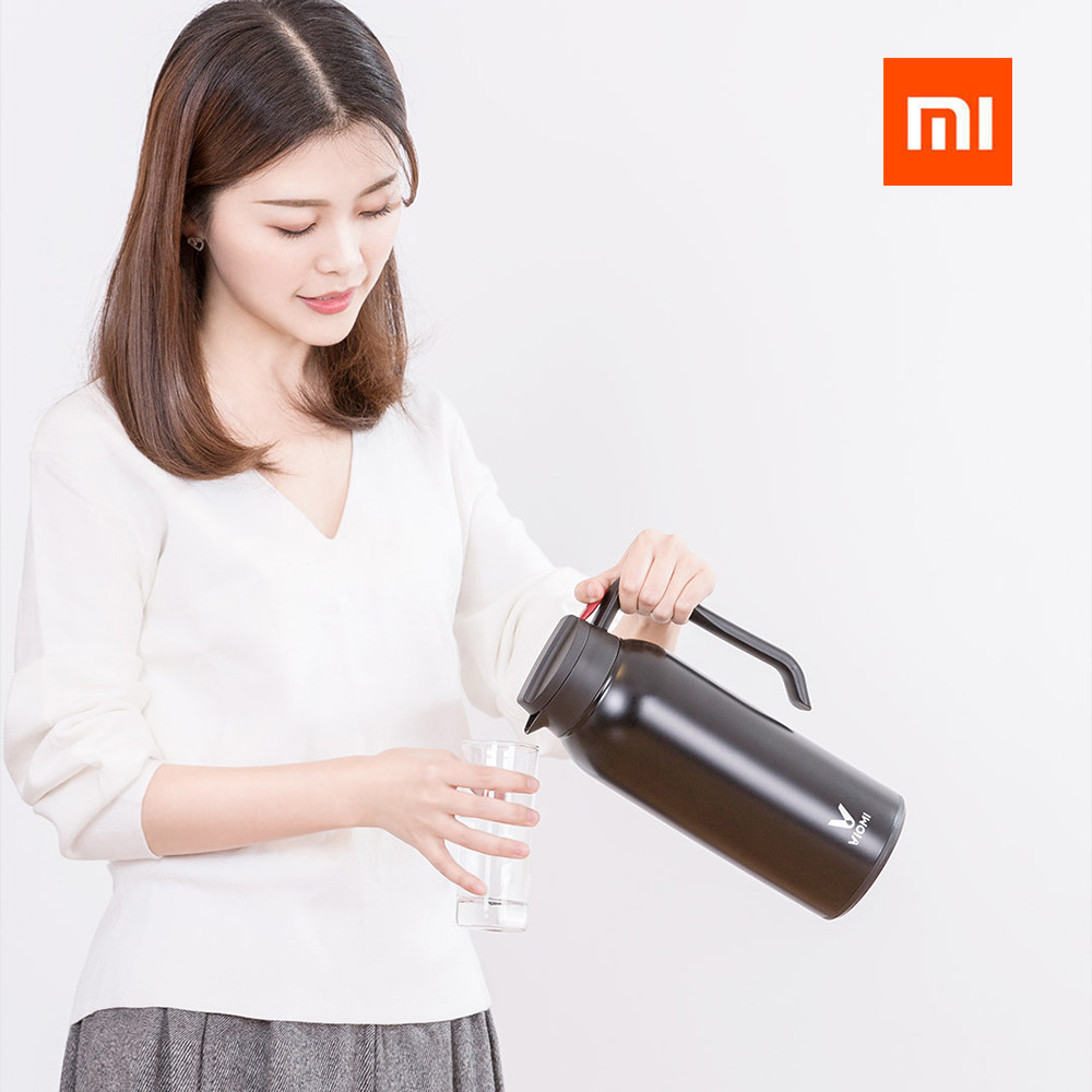 Xiaomi Mijia VIOMI 1500ML Thermos Stainless Steel Vacuum good Cup Thermos Insulation Pot Insulated Water For xiaomi smart home 1 5l big capacity xiaomi viomi stainless steel bottle thermos water vacuum bottle cup flask pot 24h keep warm for home office