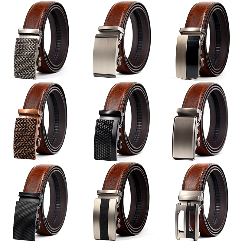 CETIRI 24 style men belt leather belt men automatic buckle high quality male Fashion jeans chain stretch solid luxury brand|Men