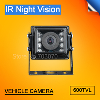 DC12 MINI Metal Rear View Truck Camera,Outdoor IR Night Vision Waterproof,4 Pin Aviation/AV/BNC for Vehicle Bus Car Surveillance