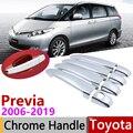 Для Toyota Previa Tarago Estima Aeras XR50 2006 ~ 2019 хромированные дверные ручки крышки наклейки на автомобиль отделка Набор 2009 2013 2018