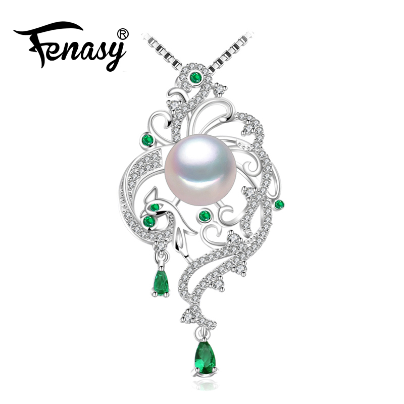 FENASY 925 sterling silver phoenix necklace for women,statement necklace,Bohemian necklaces & pendants with chain bridal jewelry