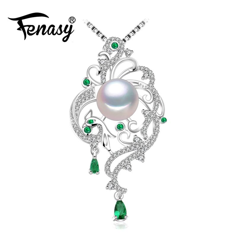 FENASY 925 sterling silver phoenix collana per le donne, collana, Bohemian collane & pendenti con catena di gioielli da sposa