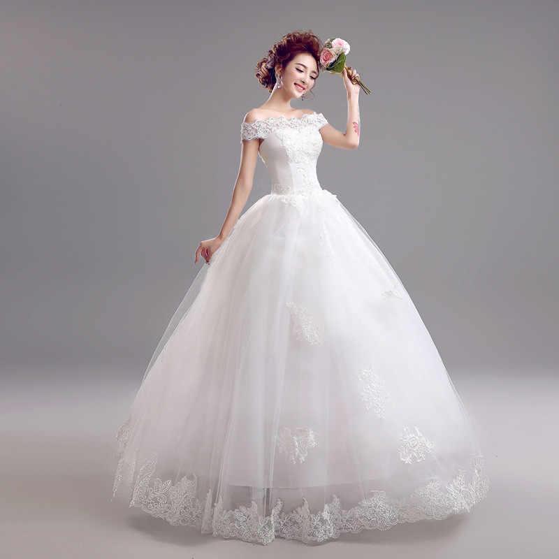 Popodion suknia ślubna koronkowe proste plus rozmiar suknie ślubne dla panny młodej suknia dla panny młodej vestido de noiva WED90452