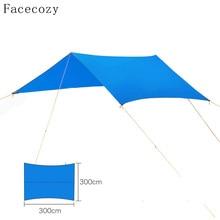 Facecozy Outdoor UV Protect Sun Shelter Sun Shade Waterproof Beach Tent Awning Picnic Camping Canopy Hiking Gazebo 3M*3M