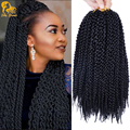 Short Havana Mambo Twists Crochet Braids Hair 12''Freetress Ombre Crochet Hair Extensions 3D Cubic Senegalese Twist Hair Crochet