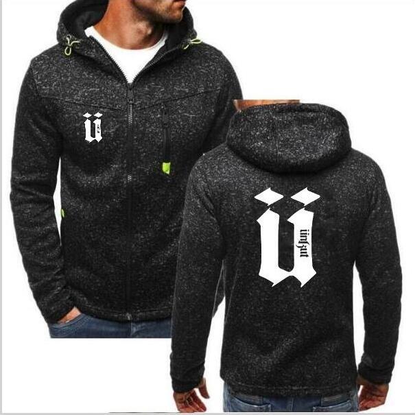 Kaured Comfortable Mens Casual Zip Up Buttons Pocket Long Sleeve Pullover Hoodies Sweatshirt