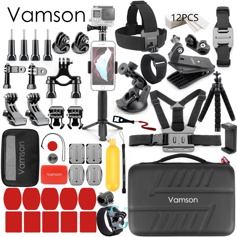 Vamson For Gopro Accessories Set For Go Pro Hero 7 6 5 4 Kit Mount For SJCAM For DJI OSMO For Xiaomi For Yi 4k For Eken H9 VS84