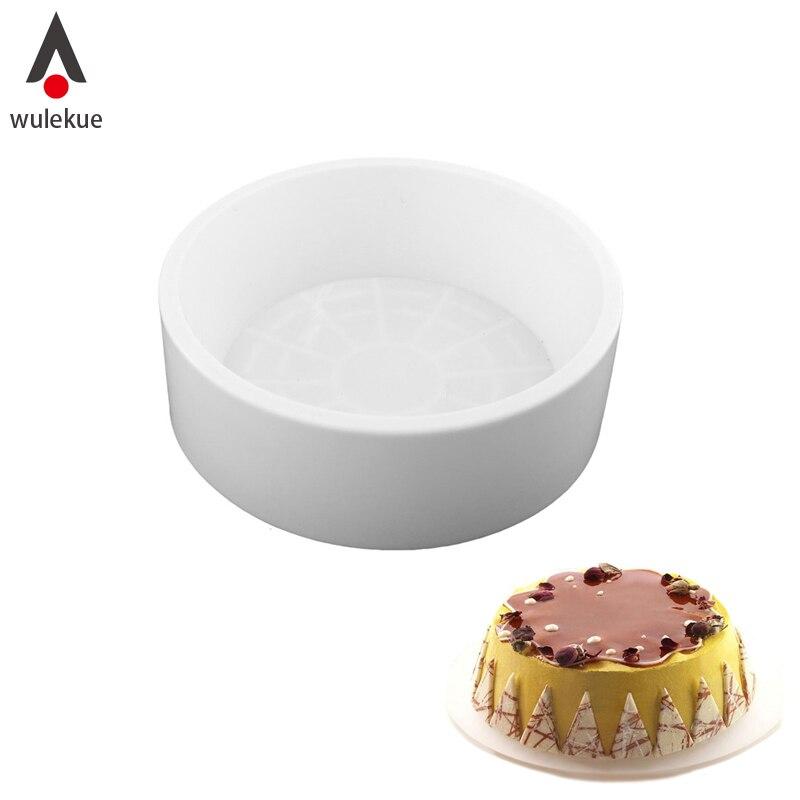 ᑎ‰1 unids molde redondo de la torta de genoise del silicón para ...
