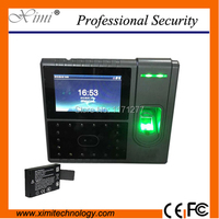 TCP/IP Biometric scanner with face fingerprint time attendance and access control built with battery office wall clock machine
