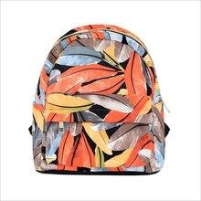 Dámské plátěné batohy pro dospívající dívky listy Unicorn hvězda tisk batoh ženy Casual rameno Školní taška Small Travel Bag