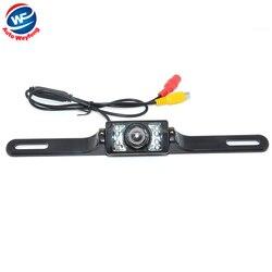 Uniwersalny 8 LED Auto Parking kamera HD CCD samochodów widok z tyłu kamery odwrotnej backup kamera wsteczna kamera parkowania darmowa wysyłka w Kamery pojazdowe od Samochody i motocykle na