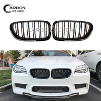 One Pair Dual Slat M5 Style Front Kidney Grille Grill For BMW 5 Series F10 Gloss Black 520i 523i 525i 530i 535i 2010 Present